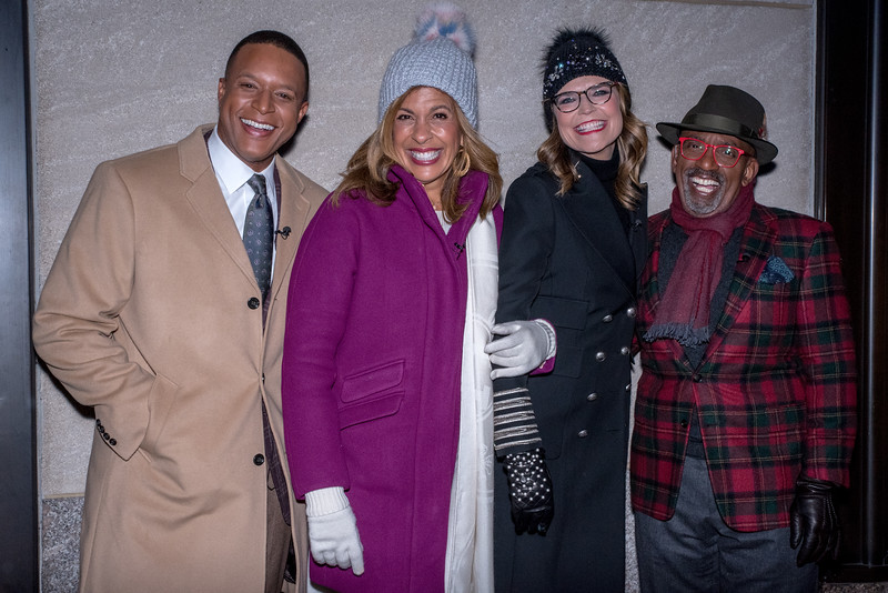 Rockefeller Center Tree Lighting - Craig Melvin, Hoda Kotb, Savannah Guthrie, Al Roker
