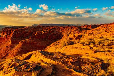 Sunset on the Cliffs Above St George Utah