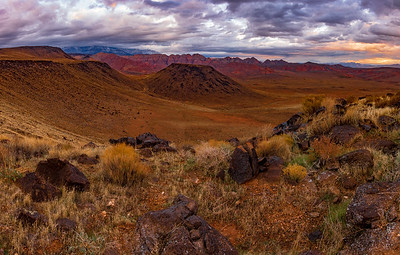 Storm Clouds Over the Green Springs Cindercone