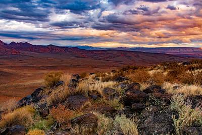 Angry Sky at Sunset From Broken Mesa