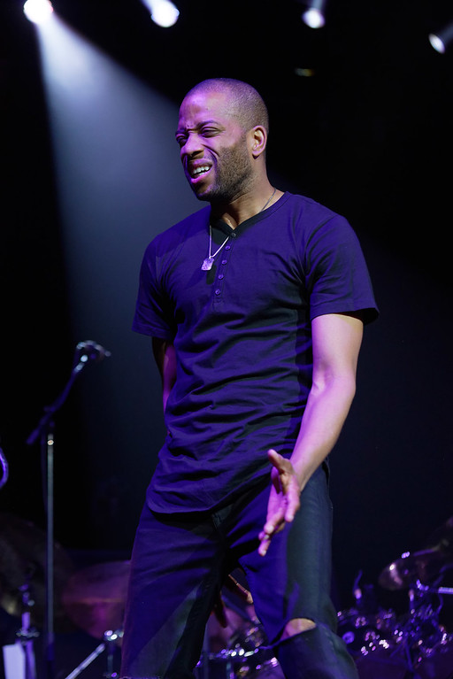 . Trombone Shorty  & Orleans Avenuelive at DTE Music Theatre on 7-18-2016. Photo credit: Ken Settle