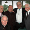 Foreground: Cardinal Egan<br /> Back: Angelo Roppolo,Monsignor Earl Provenza, Don Miller, Chief Justice Pascal F. Calogero, Jr.
