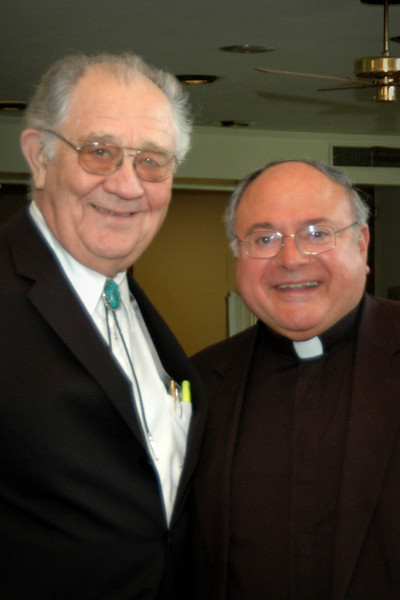 Don Miller and Monsignor Earl Provenza