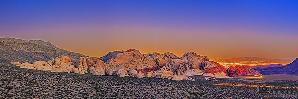 """Red Rock Twilight over Vegas,"" Red Rock Canyon National Conversation Area"