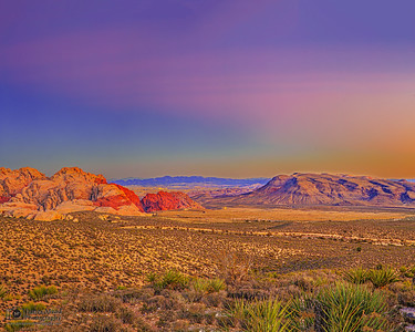 """The Red Rock Rises,"" Calico Hills and Red Rock Canyon at Sunset, Red Rock Canyon National Conservation Area"