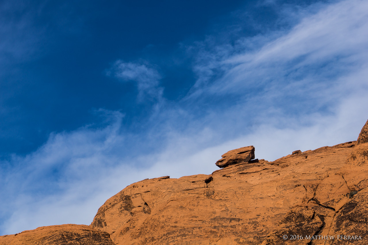 Sitting Rock, Red Rock Canyon, Las Vegas, Nevada