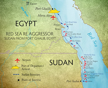 Red Sea RE Aggressor Itineraries Sudan itinerary out from Port Ghaleb Egypt Aug 10 2021
