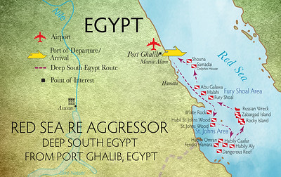 Red Sea RE Aggressor Itineraries Southern Egypt Sudan Map DRAFT Aug 6 2021