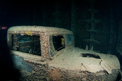 Truck inside the Thistlegorm Wreck