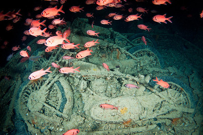 Motorcycles on the Thistlegorm Wreck