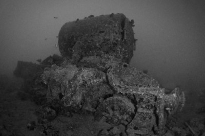 Locomotive next to the Thistlegorm Wreck