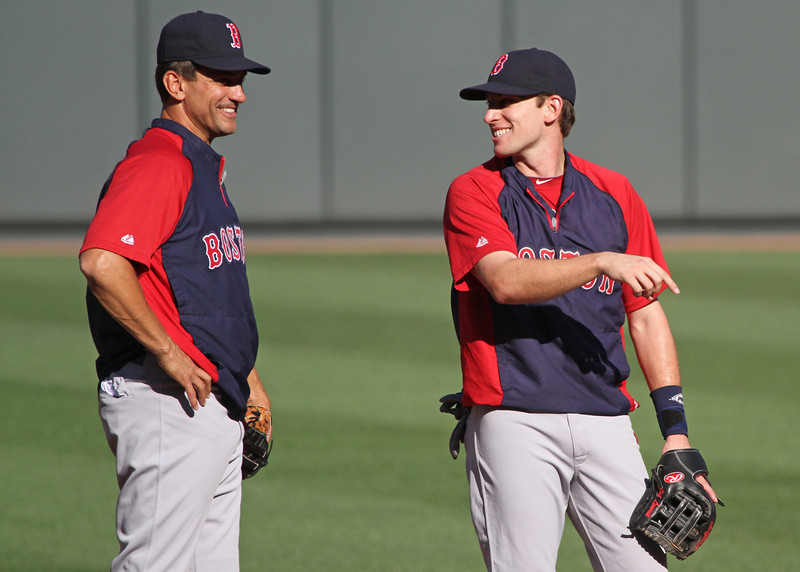 Lowrie's grin is clearly contagious.