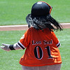Lou Seal in his Lincecum wig.
