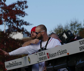 Red Sox Rolling Rally 2013 - Ross and Middlebrooks Tug of the Beards