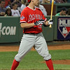 Peter Bourjos of the Los Angeles Angels of Anaheim, August 19, 2010.