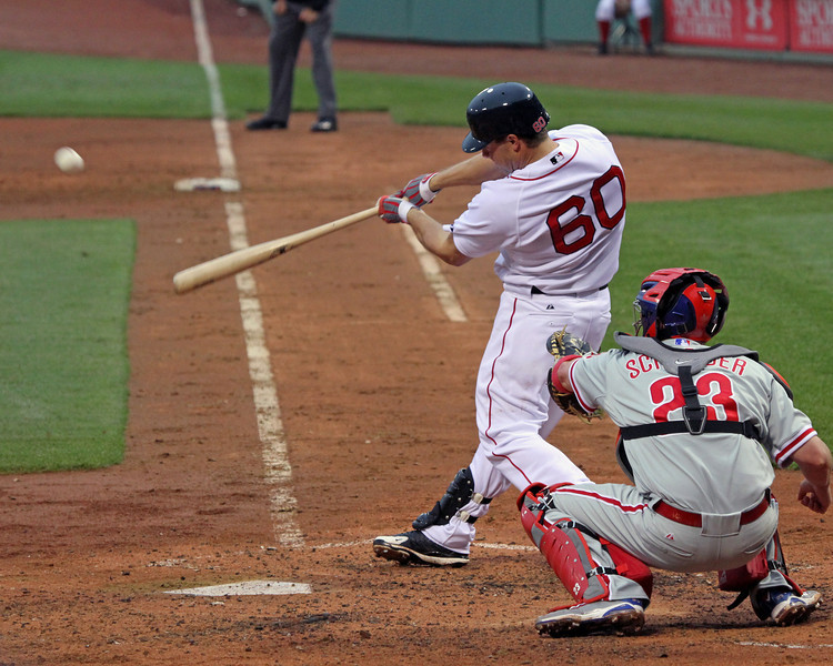 This is actually the first frame of the at-bat that I shot, so I *just* got it. Usually I'm quicker on the draw!