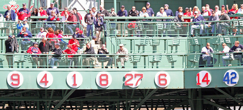 The retired numbers are back in order of retirement (aside from Jackie).
