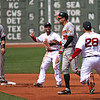 "Pedroia: ""GET HIM ADRIAN! GET HIM! GETHIM!"" Johnson: ""Yeah, it's OK, I'm on my way to the dugout."""