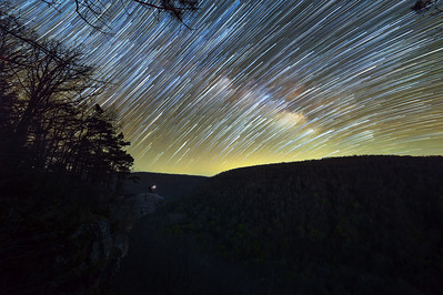 Star Trails at the Crag