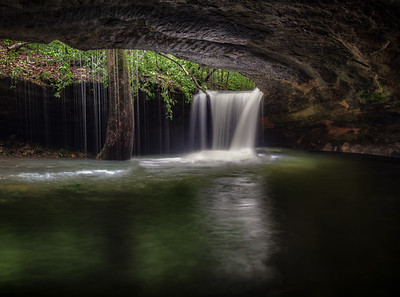 Short Grotto Falls - Ozark Mountains
