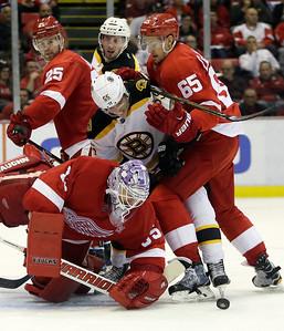 APTOPIX Bruins Red Wings Hockey