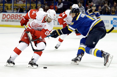 Red Wings Blues Hockey