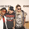 Oct. 10th, 2008,Diesel xXx-30th anniversary celebration ,<br /> JOEL MADDEN and BENJI MADDEN with a friend, Arrive at the celebration<br /> (Credit Image: © Chris Kralik/KEYSTONE Press)