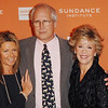 Oct. 27th,New York City,<br /> JAYNI LUKE, CHEVY CHASE and JANE FONDA<br /> arrive at the Sundance Celebration<br /> (Credit Image: © Chris Kralik/KEYSTONE Press)