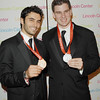 Oct. 30th,New York City,<br /> Silver medal fencing champions,<br /> Jason Rogers(l), and Tim Morehouse(r)<br /> (Credit Image: © Chris Kralik/KEYSTONE Press)