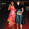 Oct. 30th,New York City,<br /> Gossip girls Amanda Setton and Nicole Fiscella<br /> make their entrance<br /> (Credit Image: © Chris Kralik/KEYSTONE Press)