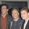 Nov 18th, New York City,<br /> Andrew Karpen, CEO of Focus Features<br /> and director Ang Lee<br /> with actor Emile Hirsch<br /> attend the New York Premiere of Milk, starring Sean Penn, directed by Gus Van Zant.<br /> (Credit Image: © Chris Kralik/KEYSTONE Press)