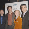 Nov 18th, New York City,<br /> Producer Dan Jinks,<br /> Andrew Karpen, CEO of Focus Features,<br /> Producer Bruce Cohen,<br /> Producer Michael London,<br /> attend the New York Premiere of Milk, starring Sean Penn, directed by Gus Van Zant.<br /> (Credit Image: © Chris Kralik/KEYSTONE Press)