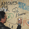 Dec. 2nd, 2008, New York City,<br /> CJ Ramone defaces museum property<br /> at the Rock and Roll Hall of Fame Annex Opening Gala<br /> (Credit Image: © Chris Kralik/KEYSTONE Press)