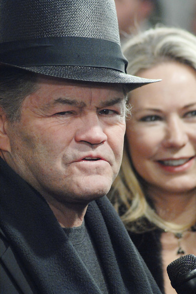 Dec. 9th, 2008, New York City,<br /> Mickey Dolenz of the Monkees<br /> and his spouse Samantha Juste<br /> Red Carpet Arrivals<br /> 'The Day the Earth Stood Still' New York Premiere<br /> (Credit Image: © Chris Kralik/KEYSTONE Press)