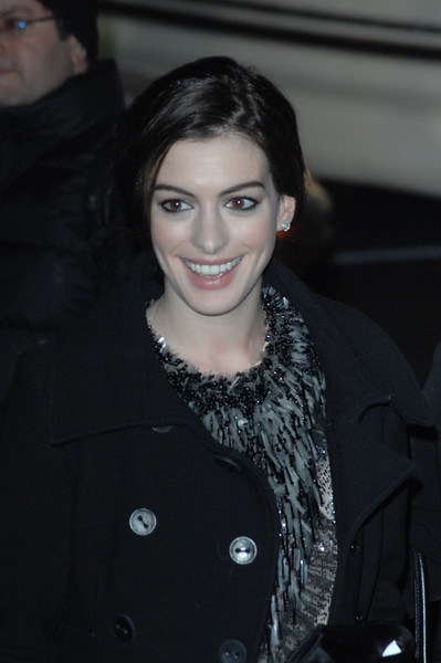 January 14th, 2009, New York City.<br /> Actress Anne Hathaway<br /> attends the National Board of Review of Motion Pictures Gala<br /> (Credit Image: © Chris Kralik/KEYSTONE Press)