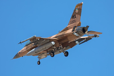 United States Air Force General Dynamics F-16C 84-1220 7-28-17
