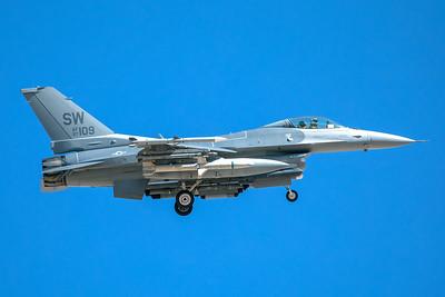 United States Air Force Lockheed Martin F-16C 97-0109 3-12-18