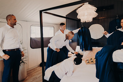 15_H+J_Groom_Prep_at_Sandstone_Point_Hotel_She_Said_Yes_Wedding_Photography_Brisbane