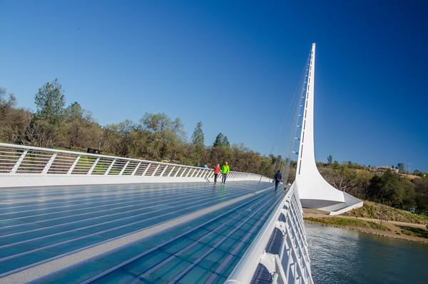 Sundial Bridge in Redding, California