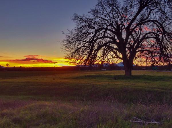 Sunset over the Klamath Mountains - Redding, California