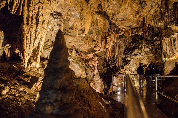 Beautiful limestone formations in Shasta Caverns. Things to do in Redding, California
