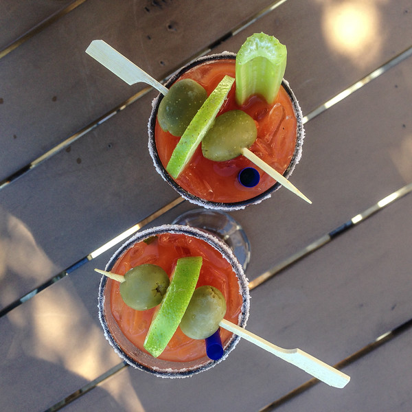 Bloody Marys from Moonstone Bistro - Redding, California