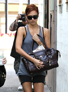 Jessica Alba with Big Purse