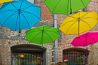 Umbrellas at the Window