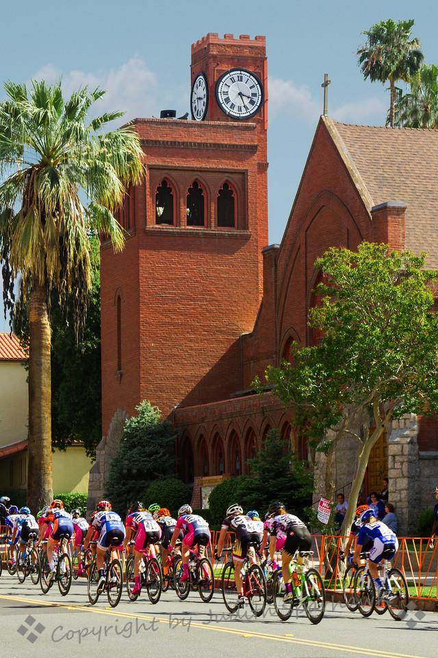 Cycling Past the Church