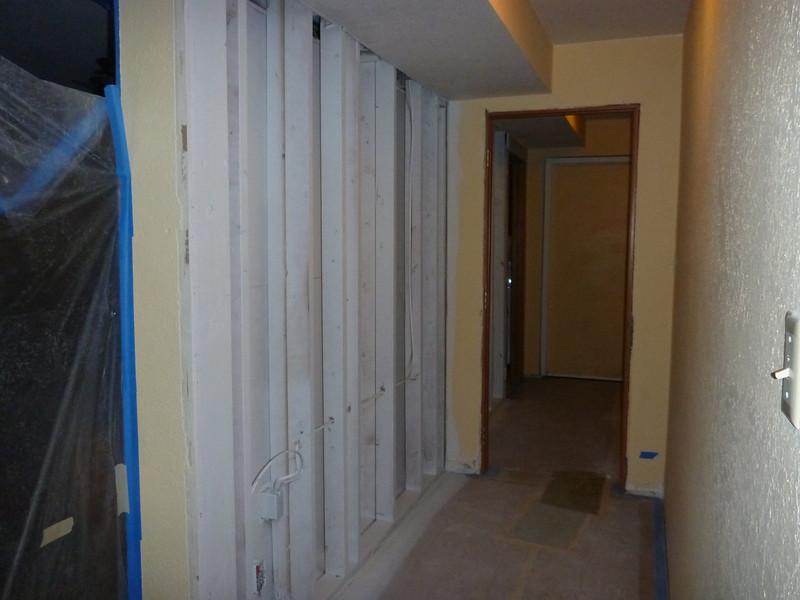 Basement hallway.