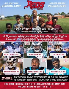 Reds Football  Camp July 14, 2018