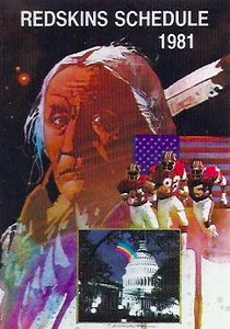 1981 Frito Lay Redskins Schedules