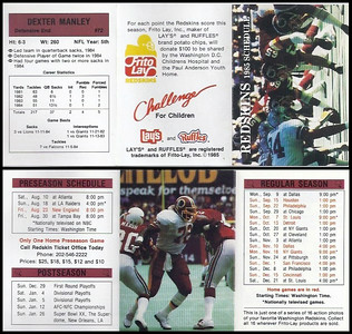 Dexter Manley 1985 Frito Lay Redskins Schedule