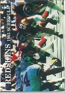 1985 Frito Lay Redskins Schedule